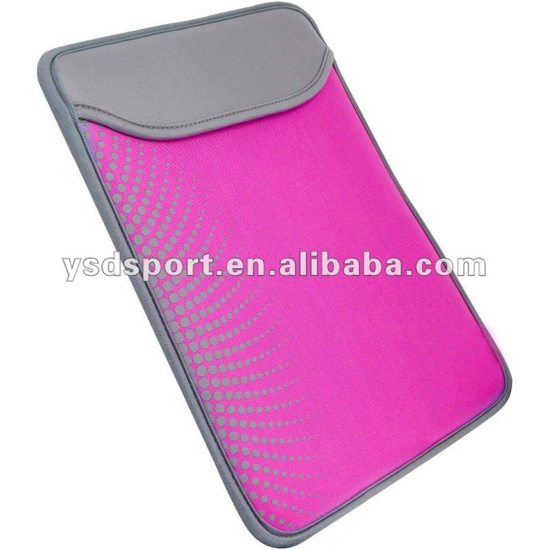 Purple Neoprene Case For Ipad2 and The New Ipad