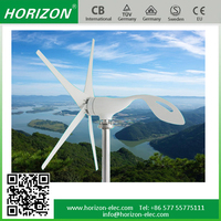 New energy 100W horizontal axis wind turbine price small small wind generator for home max power 130W 12/24VDC
