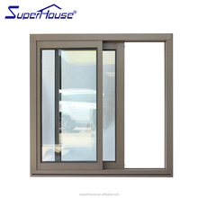 Aluminium Windows & Doors Fashion Design air infiltration aluminum framed Double Glazed sliding Window with insect screen