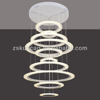 2014 new acrylic contemporary led chandeliers