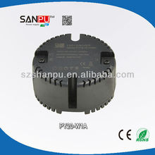 SANPU CE ROHS mini round type 20w 350ma ac dc dimmable meanwell led driver