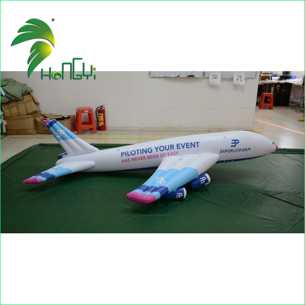 Trade Fair Attrative Inflatable Airplane Balloon , Inflatable Aeroplane Model For Sale