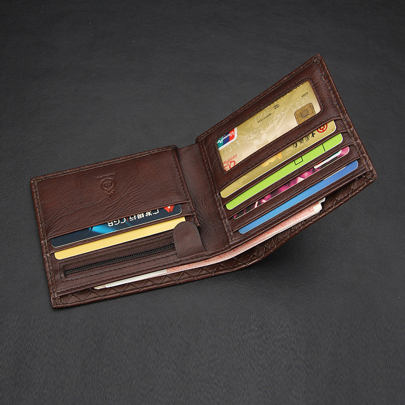 MUSUBO Hot Sale Mini Men's Genuine Leather Wallet