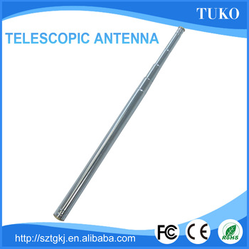 Telecommunications mobile phone external antenna telescopic