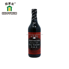 HALAL BRC Natural 500ml Glass Bottle Dark Sauce Light Sauce for Sauce for Asian Foods