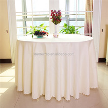 wholesale white decorative cheap round wedding table cloth/table cover