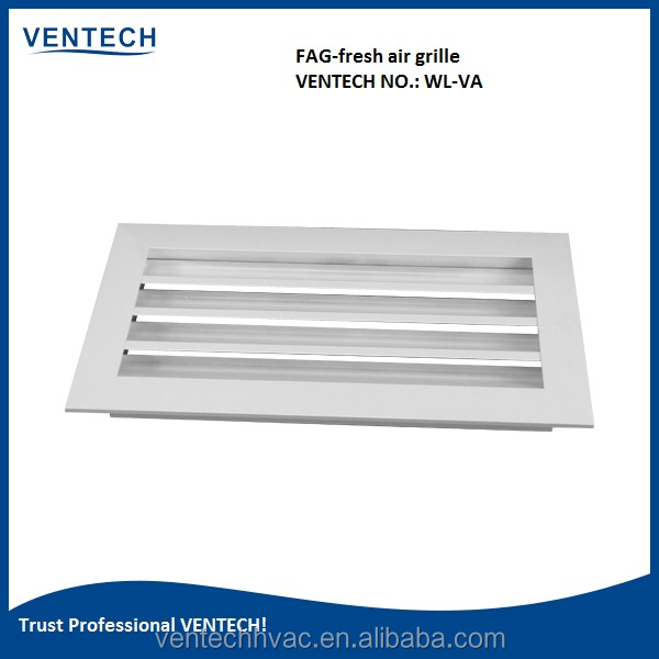 VENTECH brand name aluminum wather proof indoor air louver for conditioning