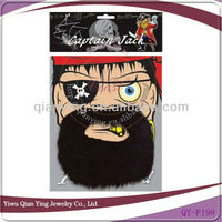 Pirate fake beard mustache decoration