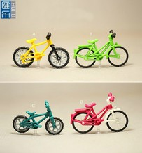 custom made small plastic bike toy figure, colorful mini bicycle miniature toy, custom bicycle toy for sale