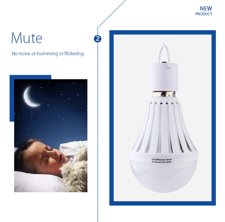 led light bulb portable elevator emergency light 220v rechargeable