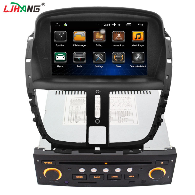 Android Hot selling car dvd navigation dvd for peugeot 207 3g wifi function support swc
