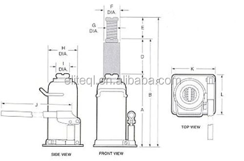 durable hydraulic high lift bottle jack