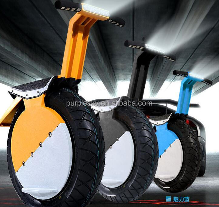 Big one wheel electric balance mobility scooter with LED light / high fast scooter