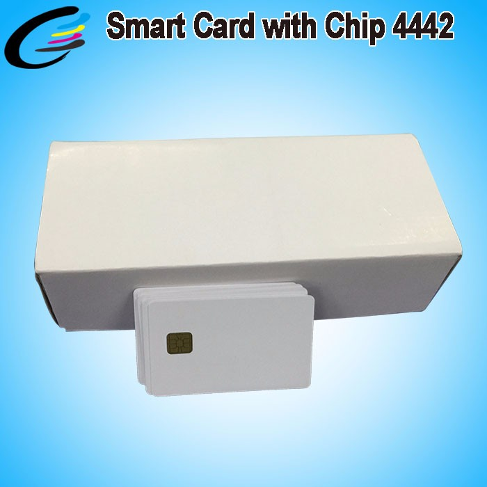 Printable PVC RFID Cards SLE4442 SLE4428 Chip Smart IC Card