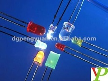 Warm white led 5MM flat top diodes