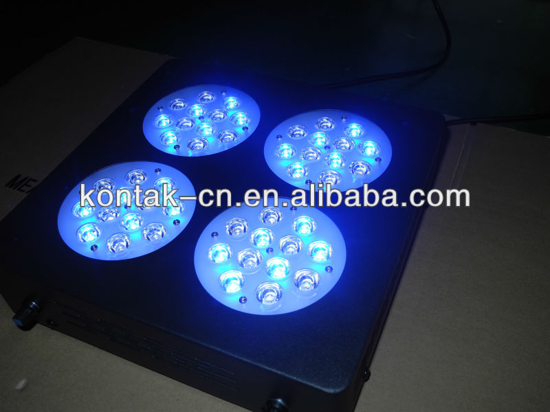 2013 New Products Aquarium LED Light 144W Full Spectrum 48x3W Reef Coral Reef Grow Fixture
