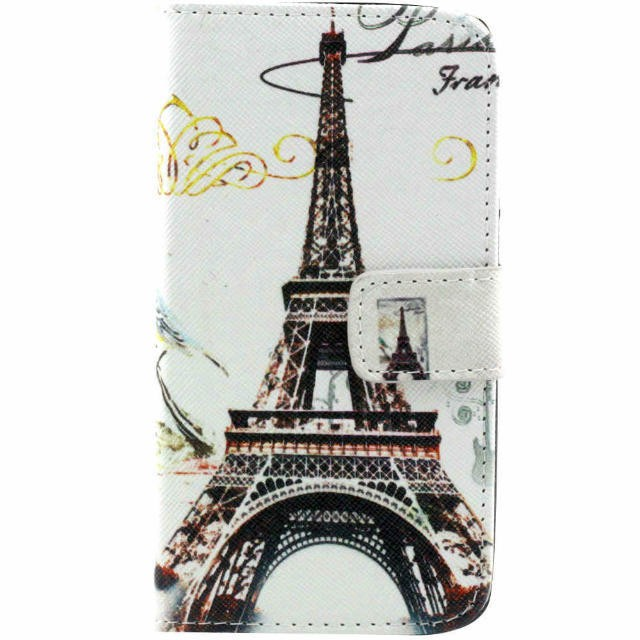 Paris Eiffel Tower Pattern printed Flip stand leather For iPhone 6 case 6Plus,5s Samsung Galaxy S7 edge cell phone case