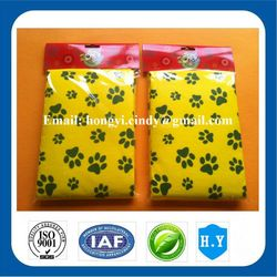 Dog foot printed eco-friendly super soft and water absorbent nonwoven fabric good quality pet washing towels