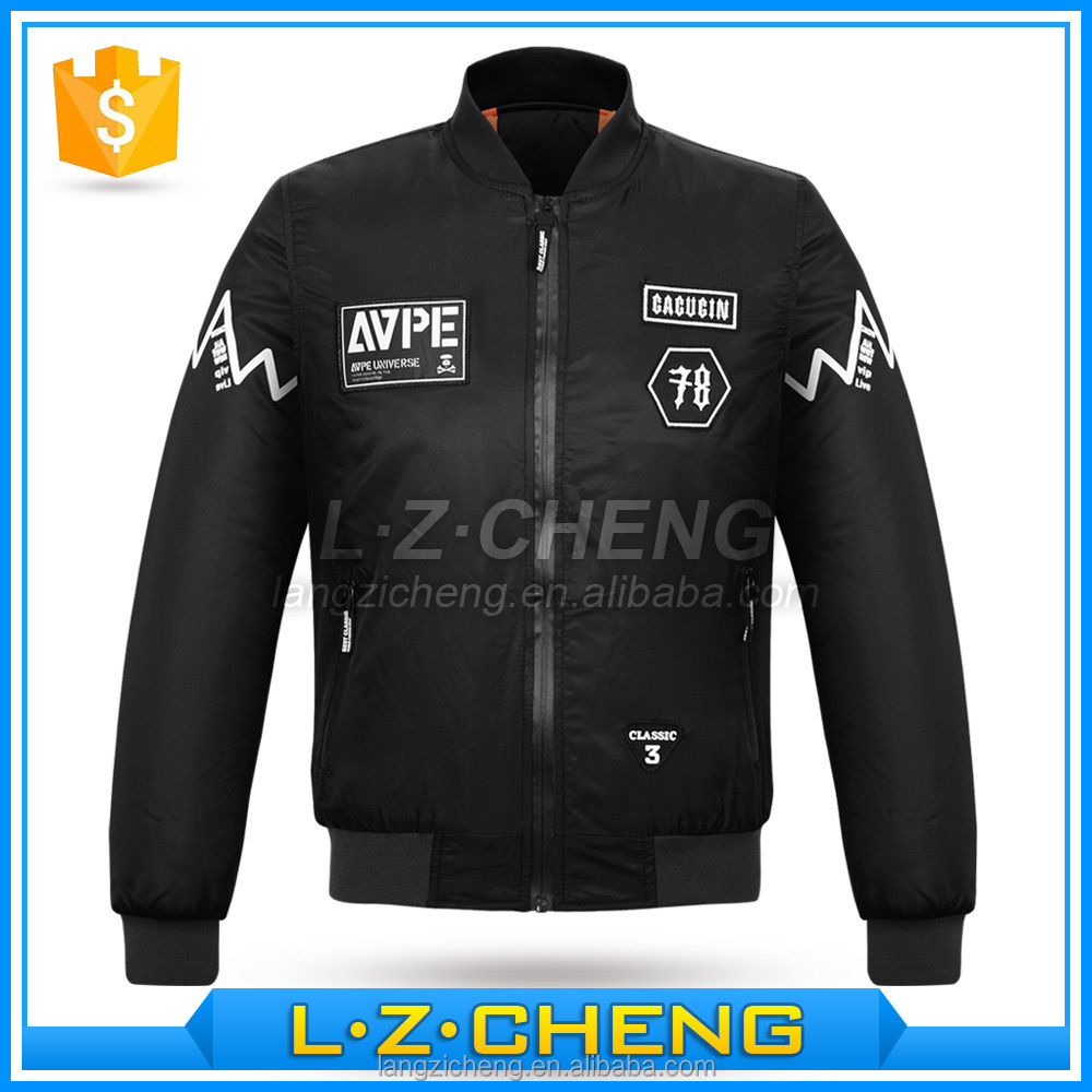 Wholesale <strong>002</strong> Polyester Mens Waterproof Bomber Jacket For Winter