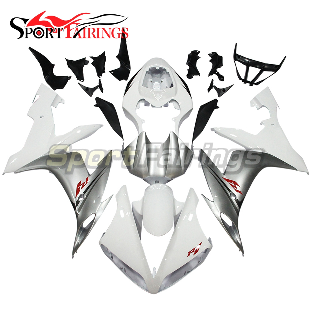 Full Fairings For Yamaha YZF <strong>R1</strong> 04 05 06 ABS Plastic Injection Motorcycle Fairing Kit Body Kits White Grey