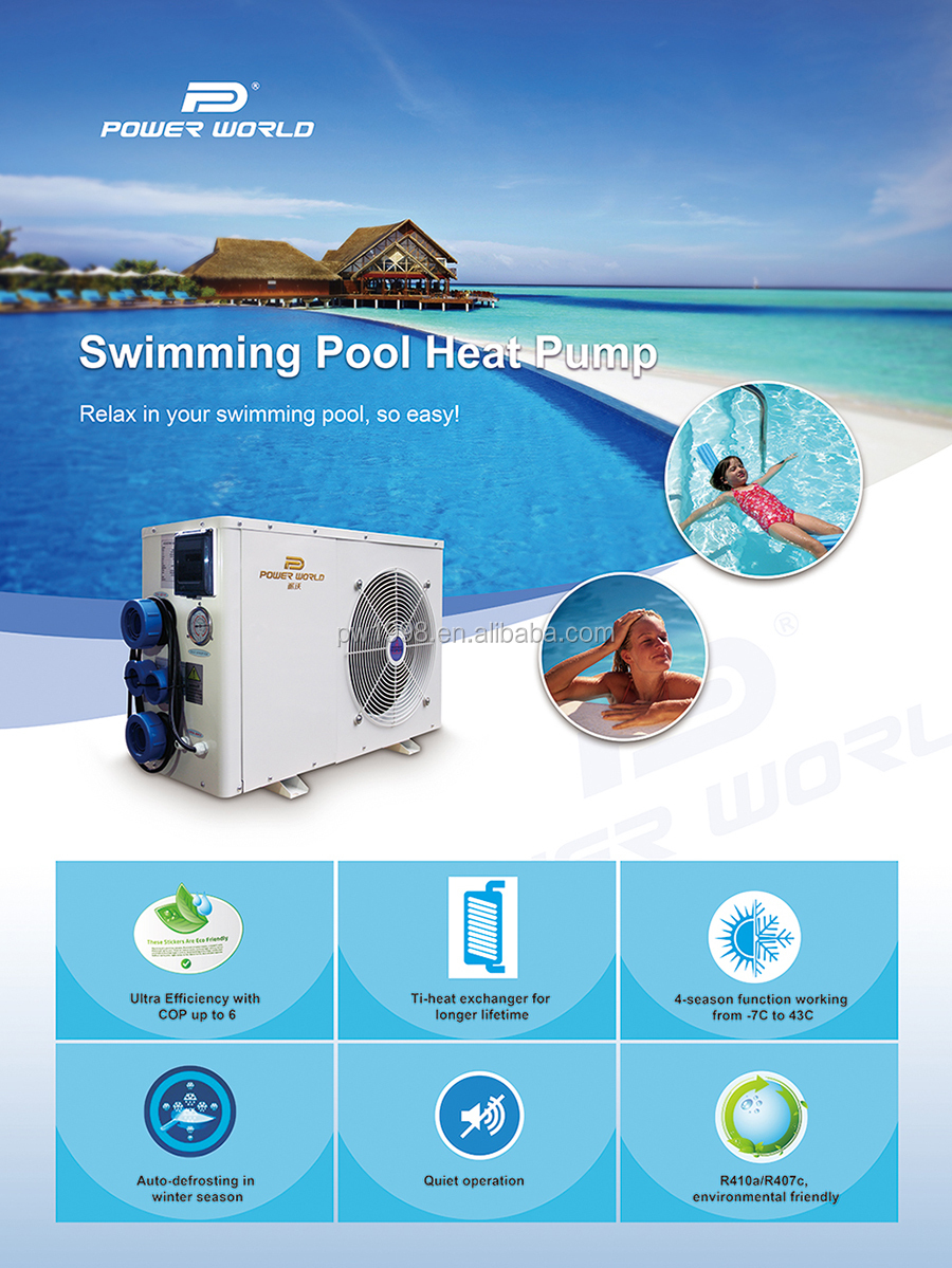 Exhausted Air Source Excellent Cop Swimming Water Heater Small Pool Heating Pump With Titanium