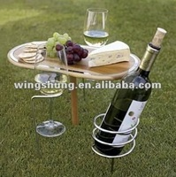 WS-G03A Outdoor drinking wine small bamboo wine table