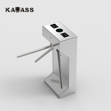 Automatic pedestrian waist high 304 stainless steel rfid card reader security turnstile gate