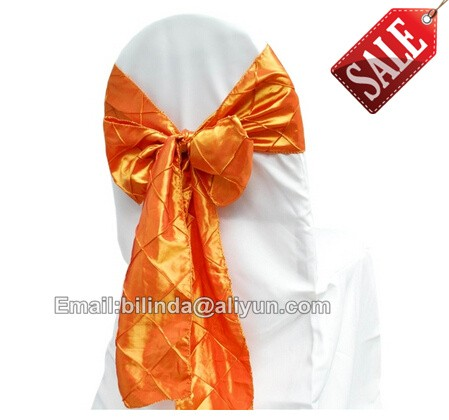 taffeta Pintuck Chair Sash Bow Ribbon