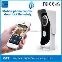 ebell atz-db005p peephole door wifi camera with 2 way audio smartphone talking remotely