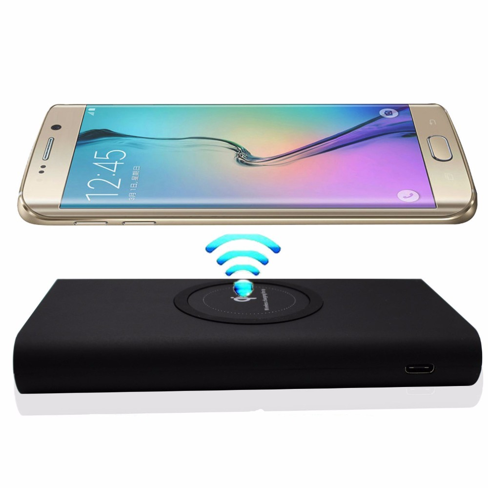 2018 New Arrival Factory Supply qi wireless power bank 10000mAh power