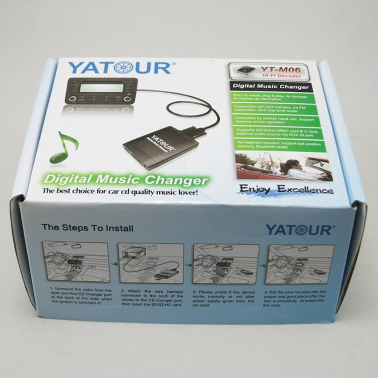 Yatour Car radio USB SD AUX Bluetoot kit