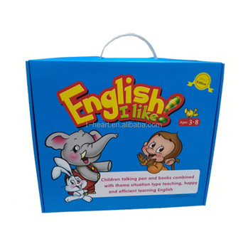 High quality preschool speaking english audio learning book
