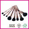 8pcs cosmetic brush set with golden rose handle high quality.