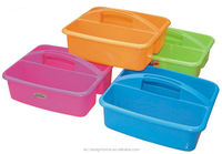 FUCHSIA, TURQUOISE, LIME GREEN, ORANGE RECTANGULAR PP PLASTIC CADDY WITH HANDLE