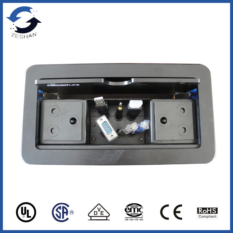 ZSFFCCL Black Flipping Panel Socket with two South Africa power and Cables