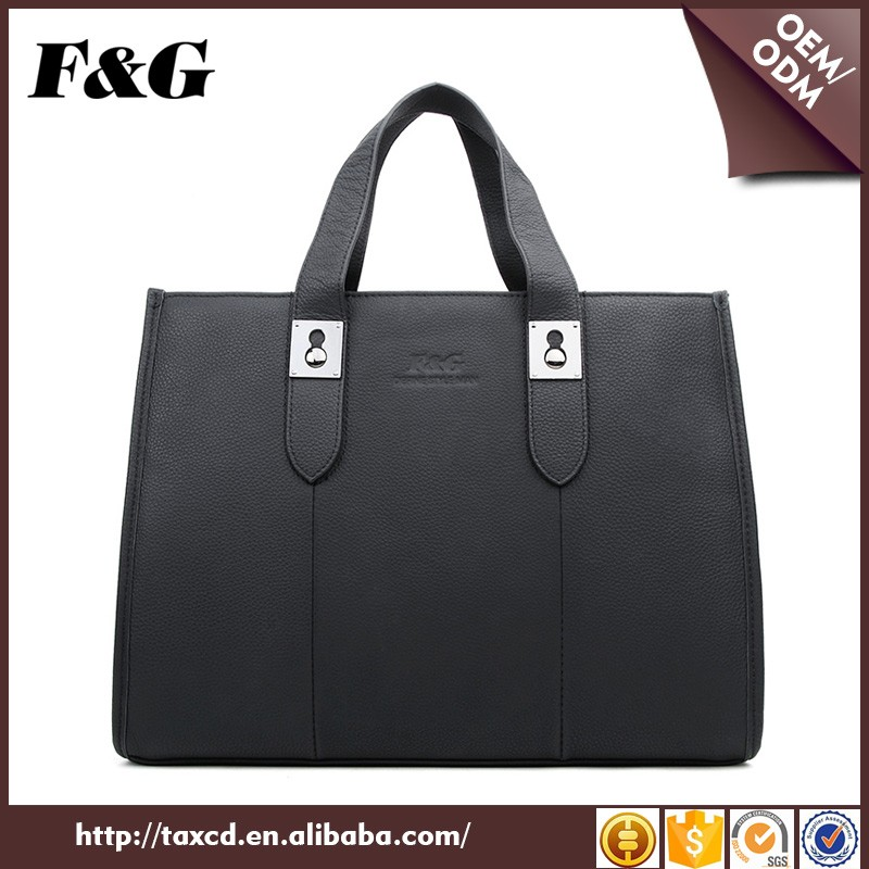 F&G genuine leather unisex office handbag commuting bag for men