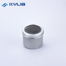 75*60mm Custom Printed 180ml Cosmetic Aluminum Can With Clear Window