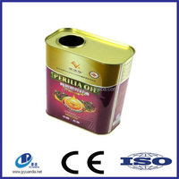 Metal empty paint cooking oil tin can,tin can with pull ring and lid