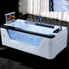 HS-B228 single person jet Whirlpool Square Freestanding Massage Bathtub With TV