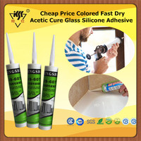 Cheap Price Colored Fast Dry Acetic Cure Glass Silicone Adhesive