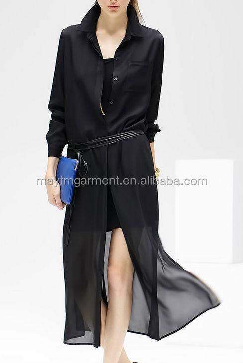 Ladies Long Black Chiffon Summer Coats - Buy Long Summer Black ...