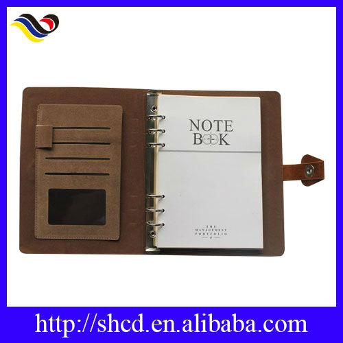 2014 customized loose leaf leather journal diary notebook