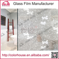 home decor adhesive pvc decorative window film for glass