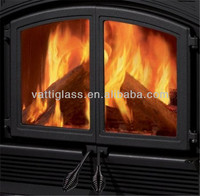 sell 6mm sell 4.5mm 4mm fireproof glass for fireplaces high quality firepalce glass &glass fireproof door