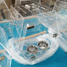 Pet Cages, Carriers & Houses acrylic bird cage clear acrylic bird feeder window bird cage feeder