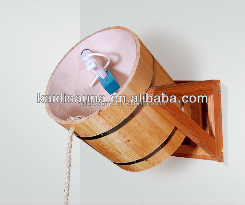 High quality Wooden sauna bucket shower