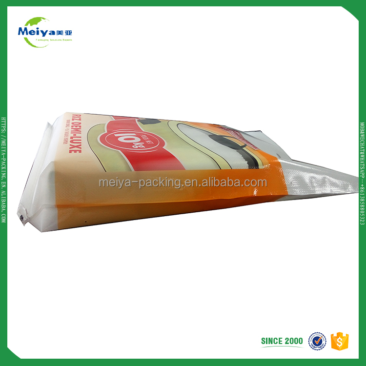 High quality durable using various custom made plastic bags packing rice