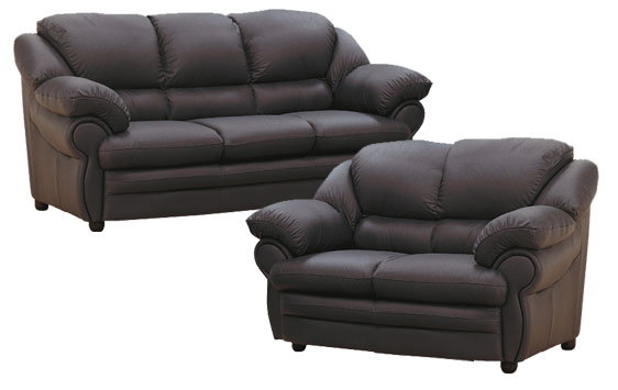 Single, Double And Three Seater Leather Sofa Chair