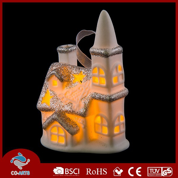 Indoor decorative ceramic building village types handicrafts