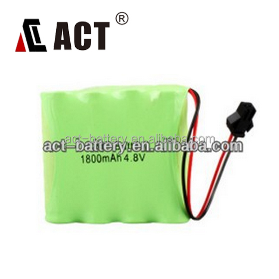 Battery Packs 4.8V NiMH/4.8V Rechargable Battery/AA Rechargeable Battery 4.8V 1800mAh